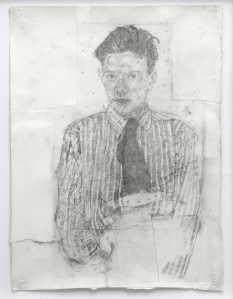 Boy from PS 151 #3, 2015, mixed media on paper, 50x67 cm